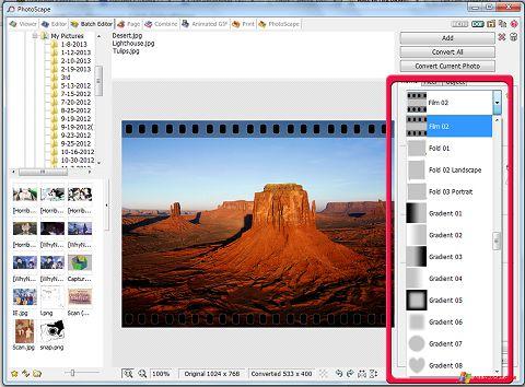 Snimak zaslona PhotoScape Windows XP