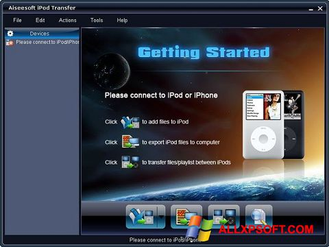 Snimak zaslona iPhone PC Suite Windows XP