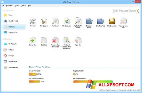Snimak zaslona jv16 PowerTools Windows XP