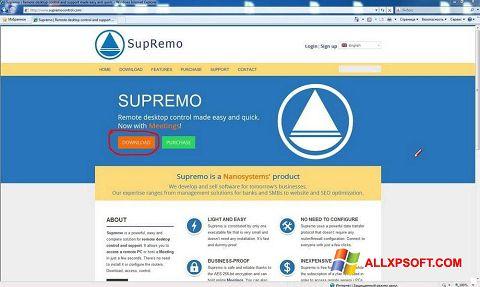Snimak zaslona Supremo Windows XP