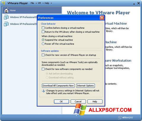 Snimak zaslona VMware Player Windows XP