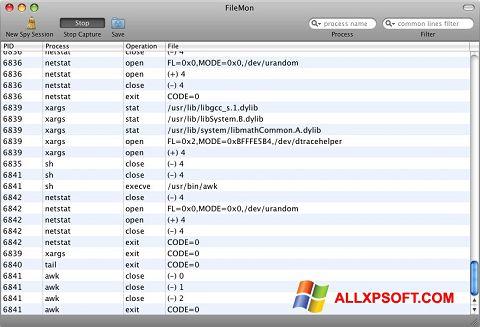 Snimak zaslona FileMon Windows XP