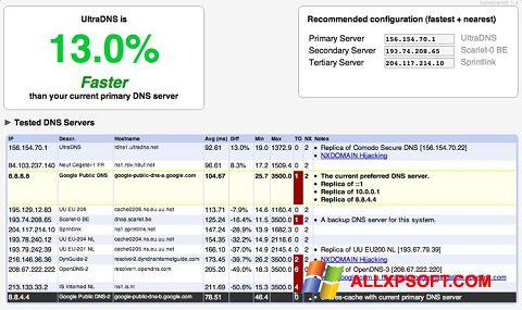 Snimak zaslona NameBench Windows XP