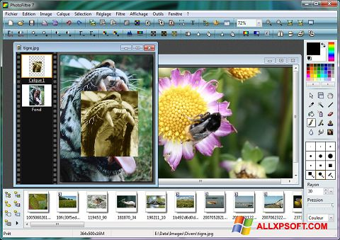 Snimak zaslona PhotoFiltre Windows XP