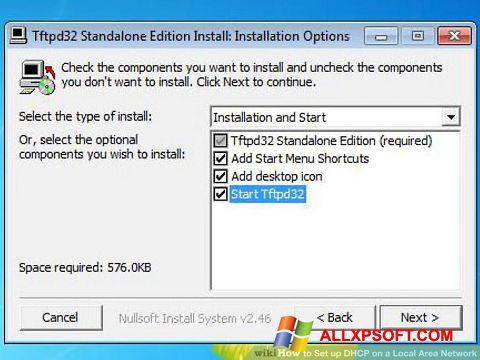 Snimak zaslona Tftpd32 Windows XP