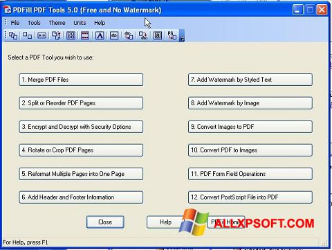 Snimak zaslona Pdf995 Windows XP