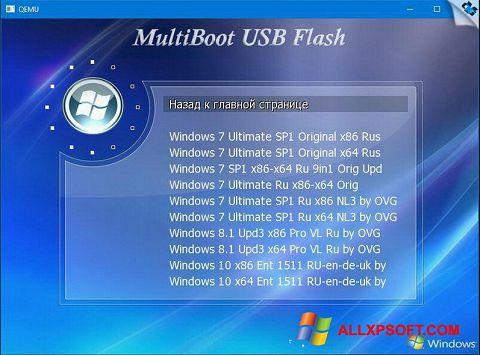 Snimak zaslona MultiBoot USB Windows XP