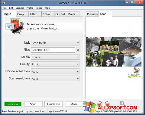 Snimak zaslona VueScan Windows XP