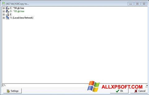 Snimak zaslona KillCopy Windows XP