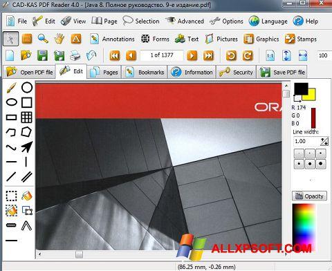 Snimak zaslona PDF Reader Windows XP