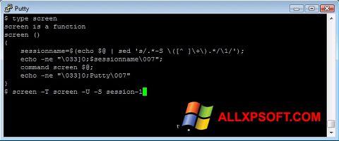 Snimak zaslona PuTTY Windows XP