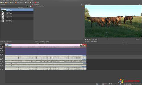 Snimak zaslona Kdenlive Windows XP