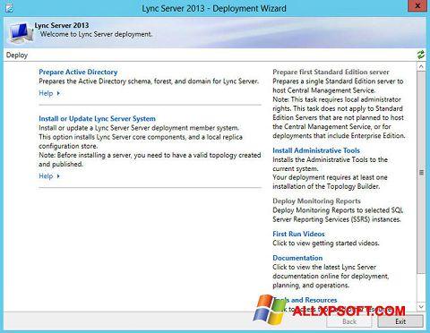 Snimak zaslona Lync Windows XP