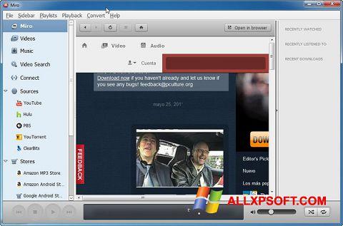 Snimak zaslona Miro Windows XP