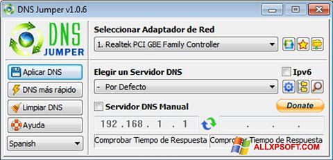 Snimak zaslona DNS Jumper Windows XP
