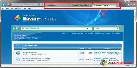 Snimak zaslona Internet Explorer Windows XP