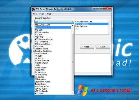 Snimak zaslona Driver Cleaner Windows XP