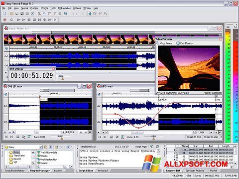 Snimak zaslona Sound Forge Windows XP