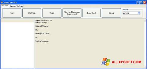 Snimak zaslona SuperOneClick Windows XP
