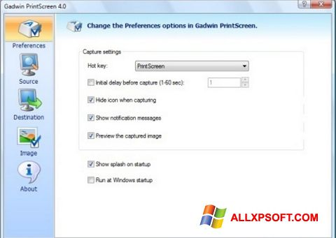Snimak zaslona Gadwin PrintScreen Windows XP