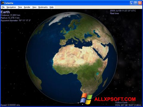 Snimak zaslona Celestia Windows XP