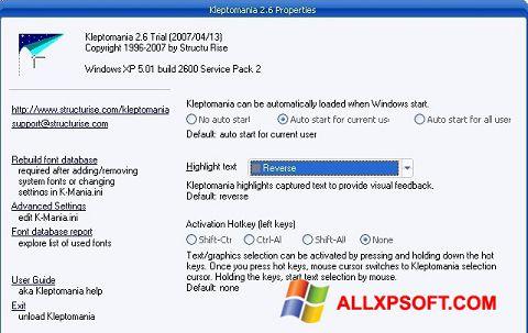 Snimak zaslona Kleptomania Windows XP