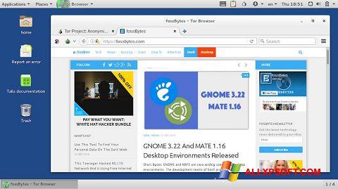 Snimak zaslona Tor Browser Windows XP