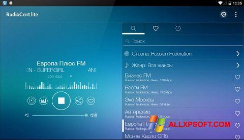 Snimak zaslona Radiocent Windows XP