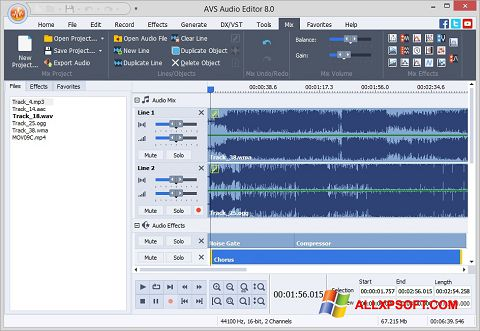 Snimak zaslona AVS Audio Editor Windows XP