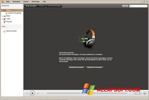 Snimak zaslona Samsung Kies Windows XP