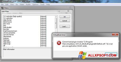 Snimak zaslona VirtualDub Windows XP