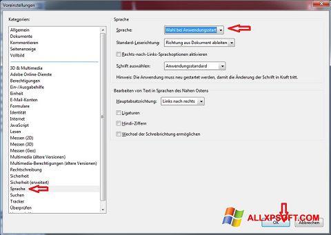 Snimak zaslona Adobe Reader Windows XP