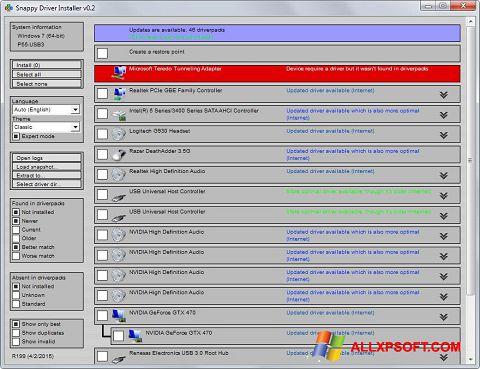 Snimak zaslona Snappy Driver Installer Windows XP