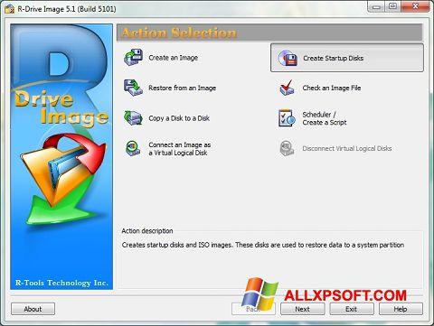 Snimak zaslona R-Drive Image Windows XP