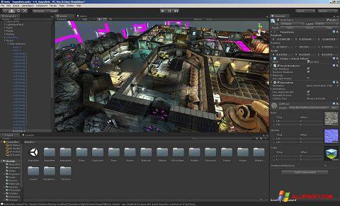 Snimak zaslona Unity 3D Windows XP