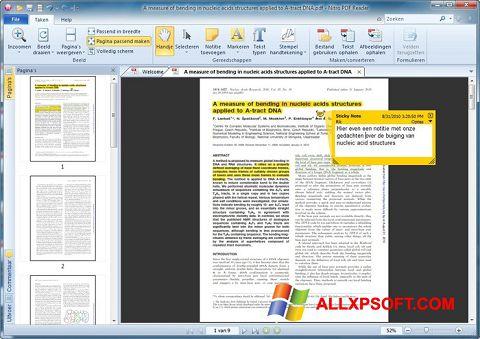 Snimak zaslona Nitro PDF Reader Windows XP