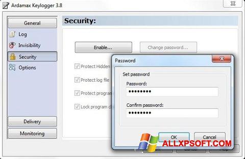Snimak zaslona Ardamax Keylogger Windows XP