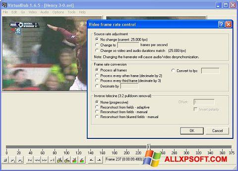 Snimak zaslona VirtualDubMod Windows XP