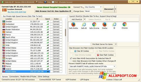 Snimak zaslona Hide ALL IP Windows XP