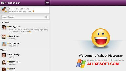 Snimak zaslona Yahoo! Messenger Windows XP