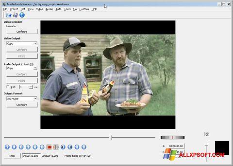 Snimak zaslona Avidemux Windows XP