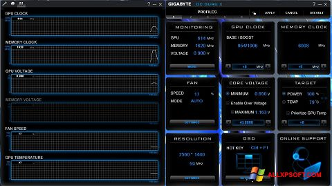 Snimak zaslona GIGABYTE OC Guru Windows XP
