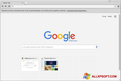 Snimak zaslona Google Chrome Windows XP