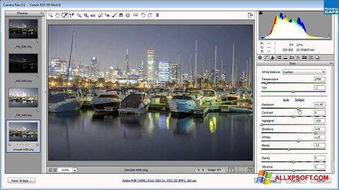 Snimak zaslona Adobe Camera Raw Windows XP
