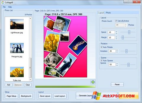 Snimak zaslona CollageIt Windows XP