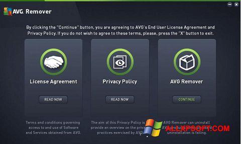 Snimak zaslona AVG Remover Windows XP