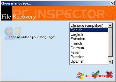 Snimak zaslona PC Inspector File Recovery Windows XP