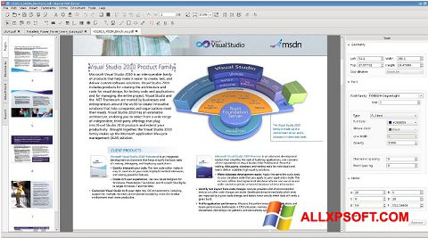 Snimak zaslona Master PDF Editor Windows XP
