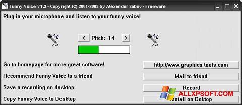 Snimak zaslona Funny Voice Windows XP