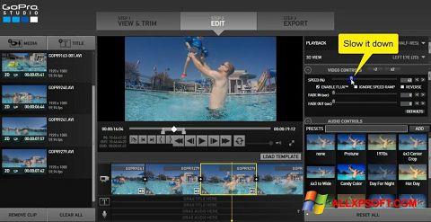 Snimak zaslona GoPro Studio Windows XP